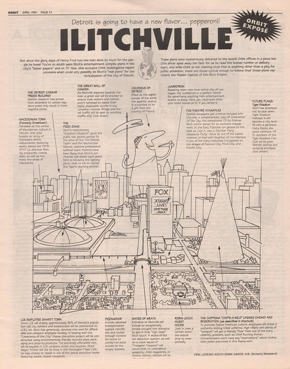 """Orbit's """"Ilitchville"""" rendering, published 22 years ago this month. - VIA THE ORBIT MAGAZINE ANTHOLOGY OFFICIAL FACEBOOK PAGE"""