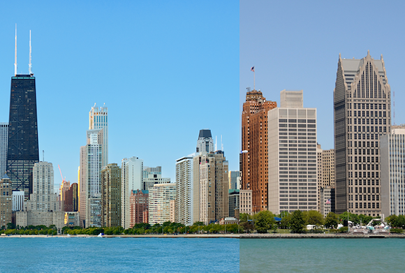 Don't worry, Chicago: Your future as an aspiring Alpha+ Global City remains secure. - PHOTOMONTAGE FROM SHUTTERSTOCK IMAGES