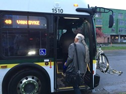 W. Kim Heron starts his commute during the #Act2Connect challenge. - PHOTO COURTESY OF THE KRESGE FOUNDATION.