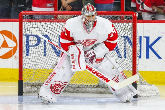 Petr Mrazek backstops a slew of talented youth in the Red Wings' organization. - CREDIT: KYLE BESLER / SHUTTERSTOCK.COM
