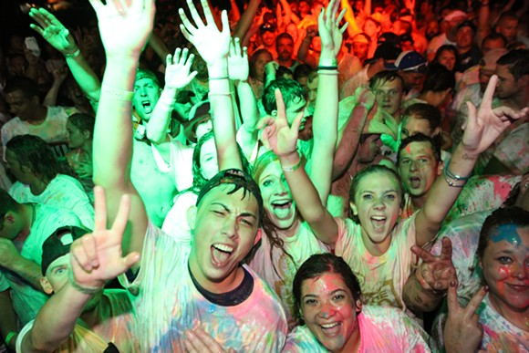 The Keloorah festival includes paint and foam parties and DJs in a spring break-style setting during a NASCAR weekend at Michigan International Speedway. - COURTESY PHOTO.