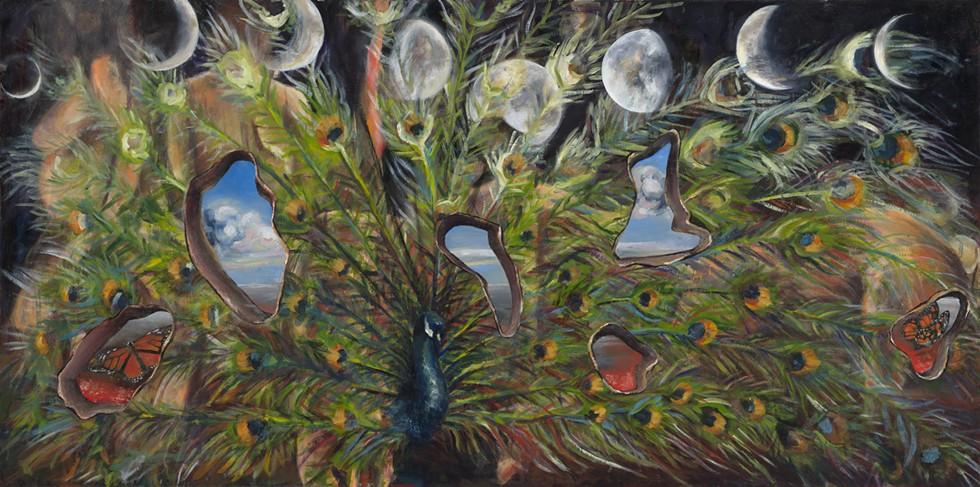 """Moon Phases and Peacocks,"" by Stephanie Sucaet-Felczak. - COURTESY OF THE ARTIST"
