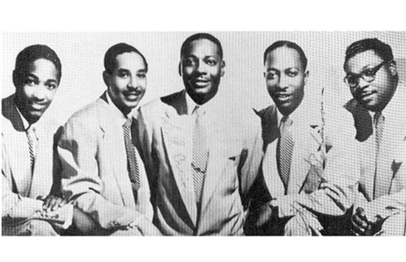 SAM COOKE WITH THE SOUL STIRRERS. PHOTO COURTESY SPECIALTY RECORDS.