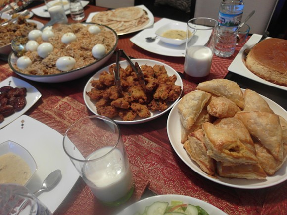 A typical Bangladeshi Iftar spread. - PHOTO BY SERENA MARIA DANIELS.