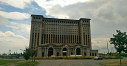 Tec-Troit was originally planned to take place in Corktown's Roosevelt Park, in front of Michigan Central Station. - PHOTO BY ST8FAN/WIKIPEDIA