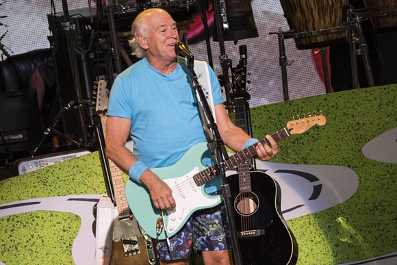 Jimmy Buffett onstage Saturday at DTE Energy Music Theatre. - PHOTO BY MIKE FERDINANDE