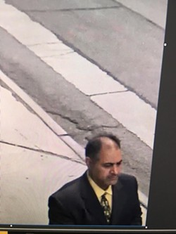 A security camera image of the man wanted for questioning by Detroit police after Monday's security breach at City Hall. - PHOTO COURTESY OF THE DETROIT POLICE DEPARTMENT