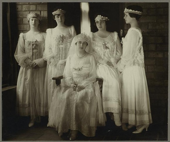 Eleanor Ford and her bridesmaids. 1916.