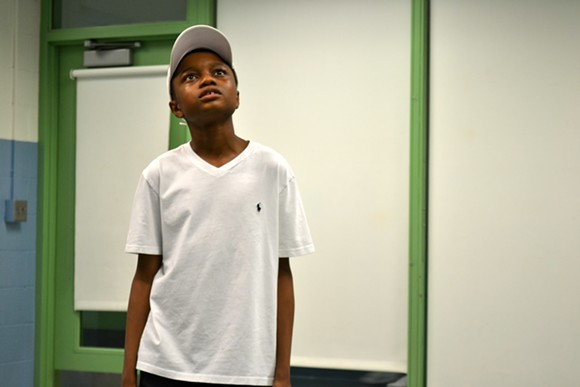 """Justin Malone-Horton, 15, playing the title role in """"An'Dee."""" - PHOTO BY AARON ROBERTSON"""