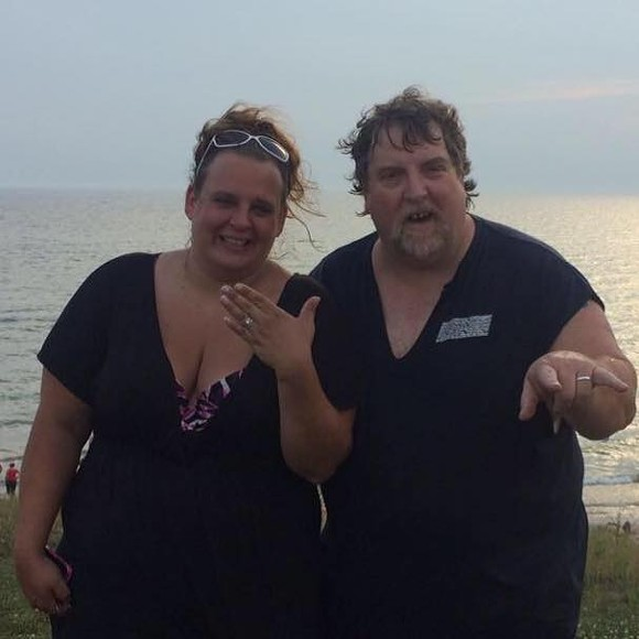 JAMIE KENNEDY PICTURED WITH THE MAN WHO FOUND HER RING, JOHN DUDLEY. | PHOTO/FACEBOOK, JAMIE KENNEDY