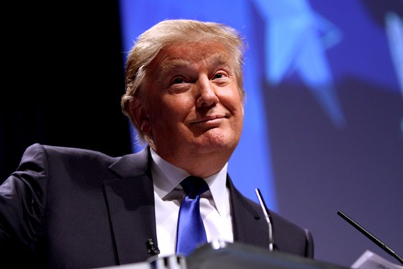 DONALD TRUMP BY GAGE SKIDMORE. PHOTO FROM WIKIPEDIA.