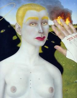 """A Presence in Dreams,"" part of the ""Three Realms Triptych."" - COURTESY CARL DEMEULENAERE"