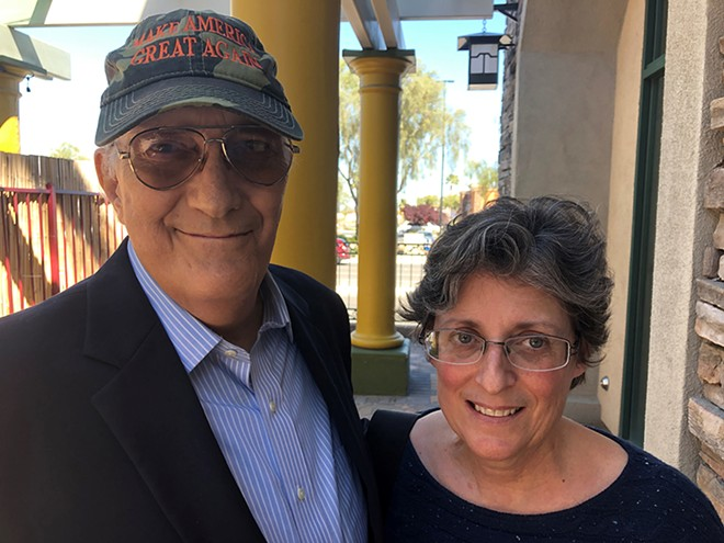 Lee Mueller, 70, and his wife Michele Mueller, 61, are pictured in Las Vegas, 2019. - REUTERS/TIM REID