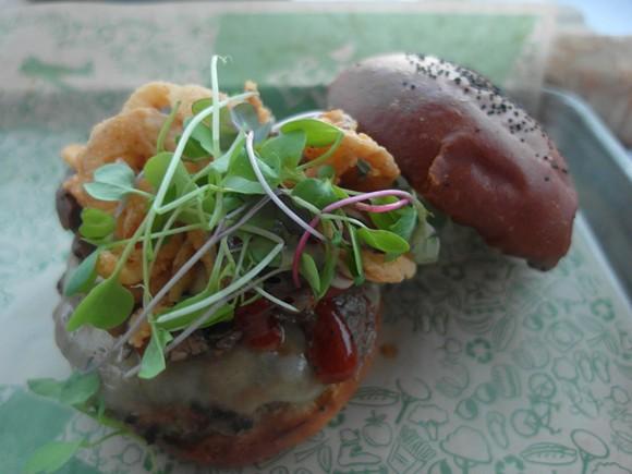 Brome burger - PHOTO BY SERENA MARIA DANIELS