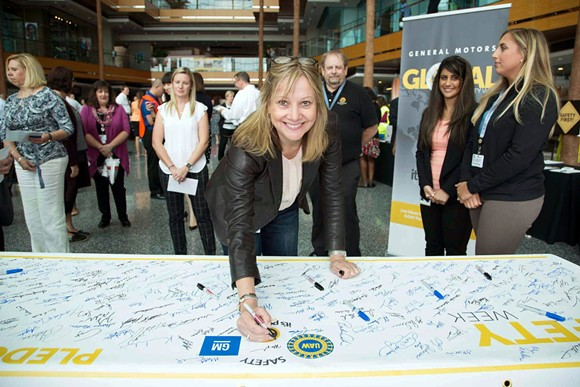 Mary Barra, doing her thing. - FACEBOOK