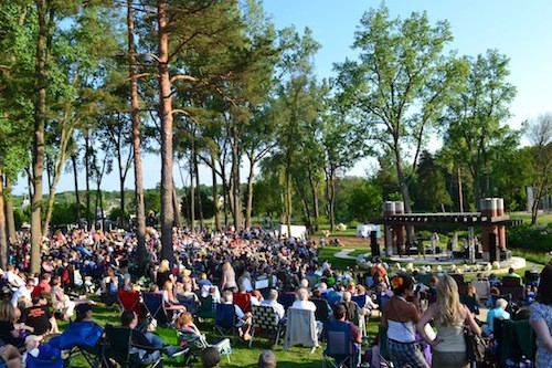 LaFontaine Family Amphitheater in Milford's Central Park. - IMAGE COURTESY FRANCO PUBLIC RELATIONS GROUP