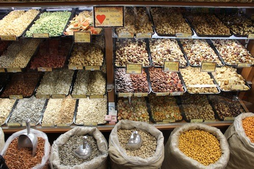 Assorted nuts at Hashem's. - COURTESY ARAB AMERICAN NATIONAL MUSEUM