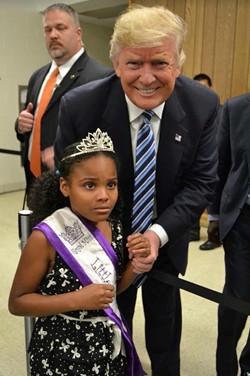 """""""Little Miss Flint"""" being a true hero. - PHOTO BY TWITTER"""