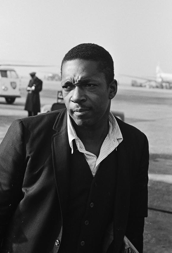 JOHN COLTRANE IN 1963. PHOTO FROM WIKIPEDIA.