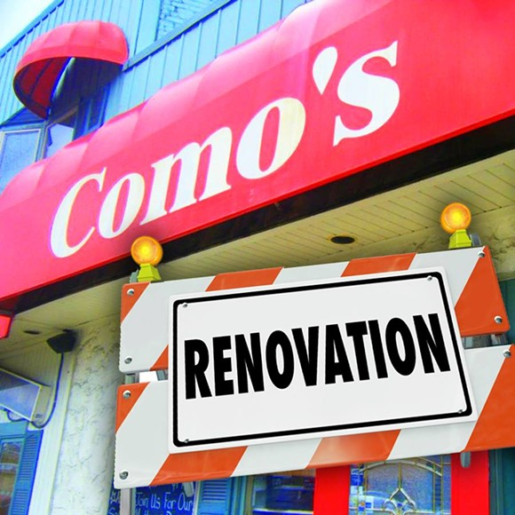 This photo illustration from Como's Facebook page fails to mention the reasons behind the restaurant's closure. - COMO'S/FACEBOOK