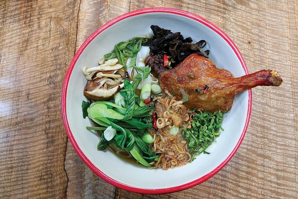 Chinese duck noodles at Katoi - PHOTO BY SCOTT SPELLMAN