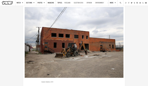 At Vice.com, this shot of a buffed-out wall helps tell the tale. - SCREENSHOT FROM VICE MAGAZINE