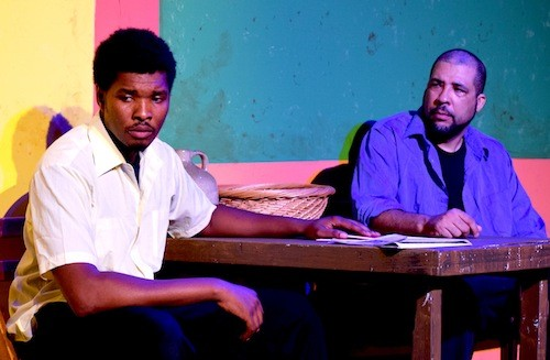 James Abbott and Falah Cannon star in the final weekend of 'Sizwe Bansi is Dead' - PHOTO COURTESY MOLLY MCMAHONE