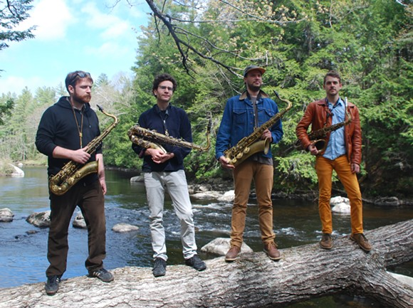 LOOK AT THESE FUCKING GUYS, OUT CAMPING WITH THEIR SAXOPHONES!