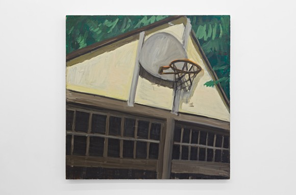 MARY ANN AITKEN, UNTITLED (BASKETBALL NET), CIRCA 1985 - 89, OIL ON MASONITE, 48 X 48 INCHES (122 X 122 CM). PHOTO COURTESY OF WHAT PIPELINE.