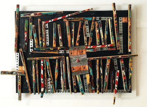 "Ron Techworth, ""Paint Stick Assemblage 2007"" - COURTESY JANICE CHARACH GALLERY"