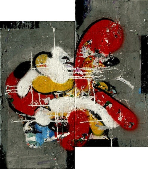 "Dennis Jones, ""abstraction number 84"" - COURTESY JANICE CHARACH GALLERY"