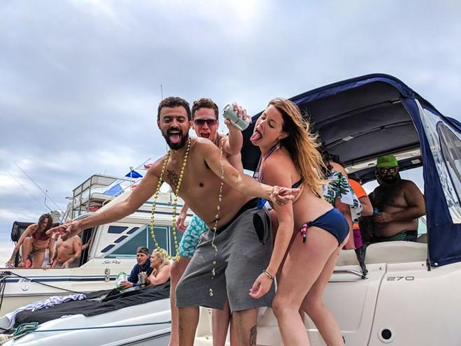 "Beautiful ""boaters"" at Jobbie Nooner, 2018. - NOAH ELLIOTT MORRISON"
