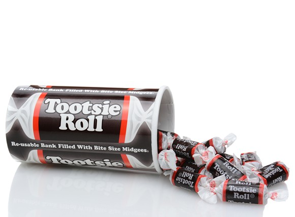 Tootsie rolls, without razor blades. - SHUTTERSTOCK