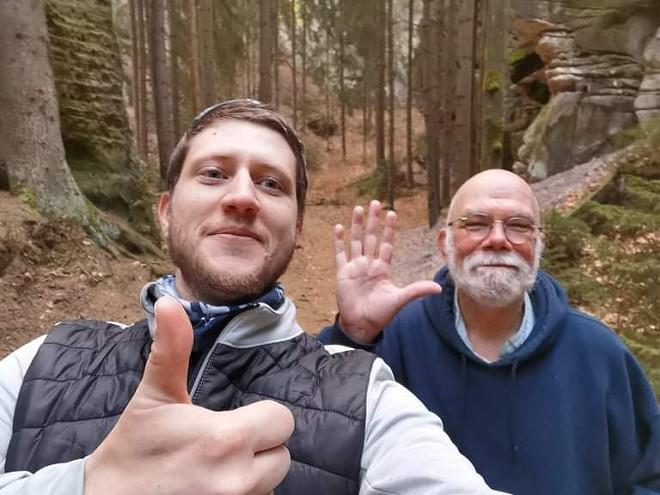 Florin Radoi and Rick Manore at Cesky Raj, a small mountain & canyon range north of Prague. - HUEWAI AND FLORIN RADOI