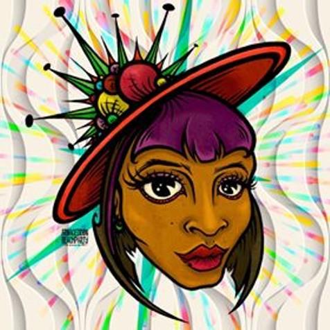 Portrait of Nina Pop. - ARMAGEDDON BEACH PARTY.