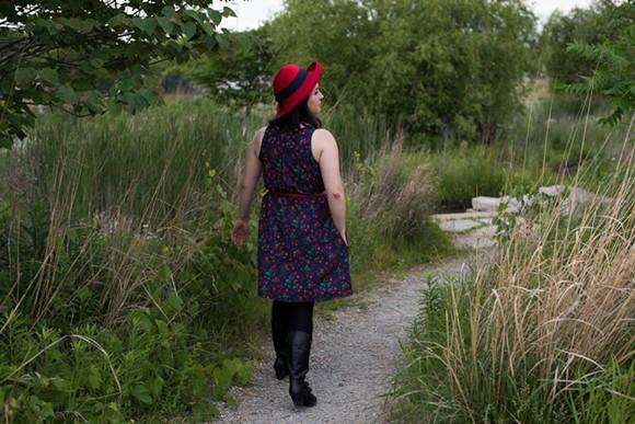 Model wears a William + Bonnie dress.