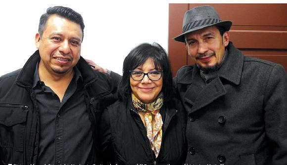 From left: Norberto Garita, chef-owner of El Barzon; author and historian Maria Elena Rodriguez; and Luis Garza, chef-owner of El Asador. - PHOTO BY ERIK HOWARD.