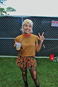Jessica Hernandez backstage at Riot Fest Chicago - PHOTO BY JACK ROSKOPP