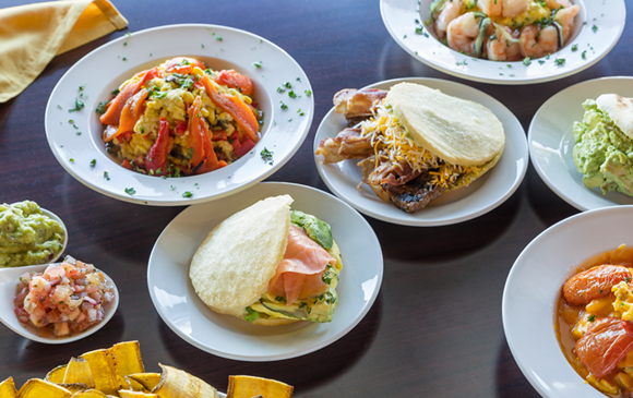 Exotic dishes fit for sharing the day abound at Garrido's in Grosse Pointe Woods. - PHOTO BY JACOB LEWKOW.