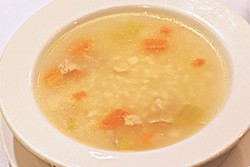 The pastina soup at Roman Village takes you back to grandma's table.
