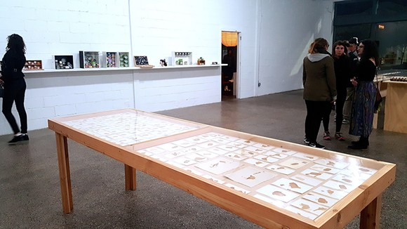 Jim Crawford at Trinosophes, installation view - PHOTO BY SARAH ROSE SHARP