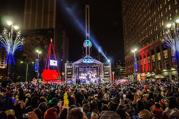 Meridian Motor City NYE - The Drop - PHOTO BY DAVID GRAFF