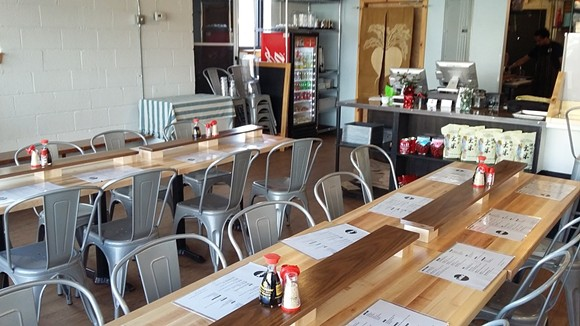 The interior at the new Ima eatery in Corktown. - PHOTO BY SERENA MARIA DANIELS