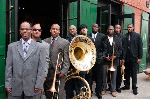 REBIRTH BRASS BAND. PHOTO BY JEFFREY DUPUIS.