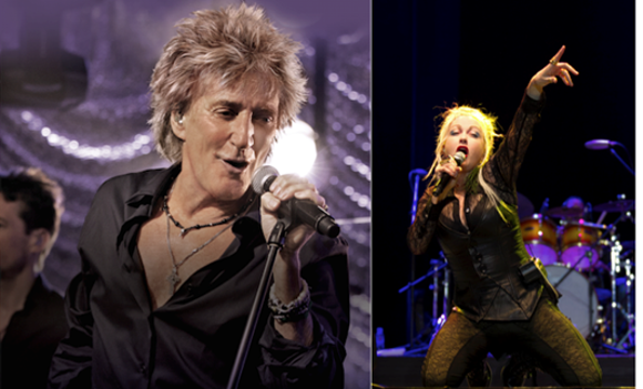 NO THAT'S NOT DANNY D! IT'S ROD STEWART. AND CYNDI LAUPER TOO. COURTESY PHOTO.