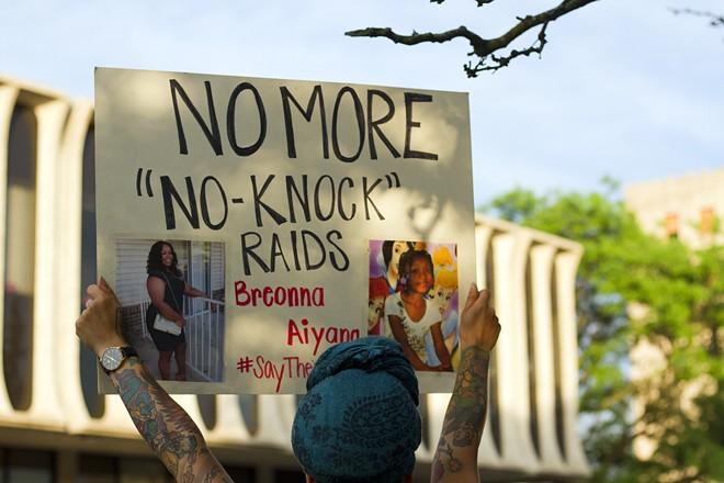 Gov. Gretchen Whitmer's plan would limit no-knock warrants. - STEVE NEAVLING