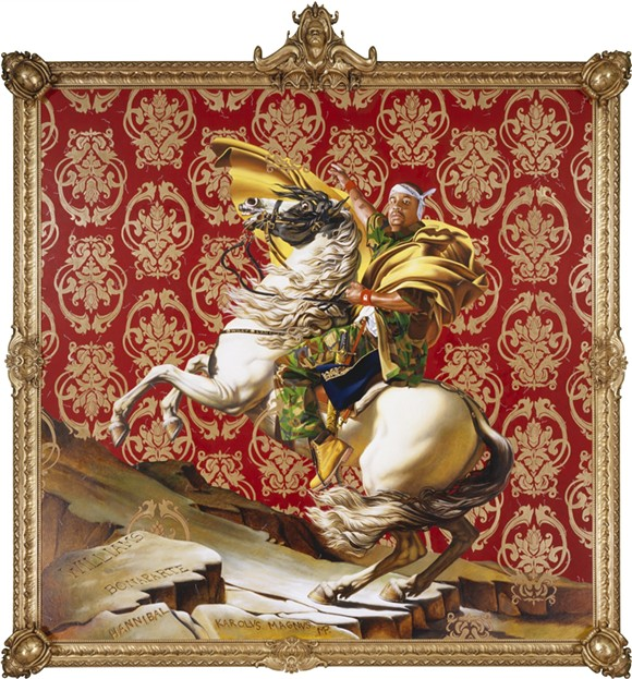 "Kehinde Wiley, ""Napoleon Leading the Army over the Alps."" - COURTESY PHOTO."