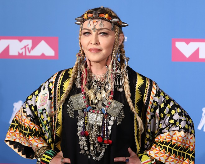 Madonna at the 2018 MTV Video Music Awards. - JSTONE / SHUTTERSTOCK.COM