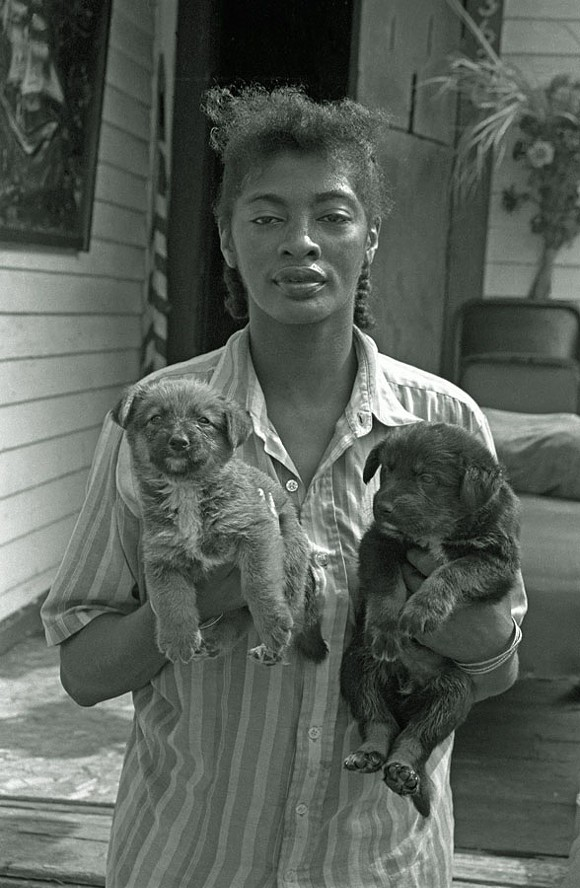"""Woman with Puppies, Detroit,"" by Bruce Harkness - PHOTO COURTESY BRUCE HARKNESS"