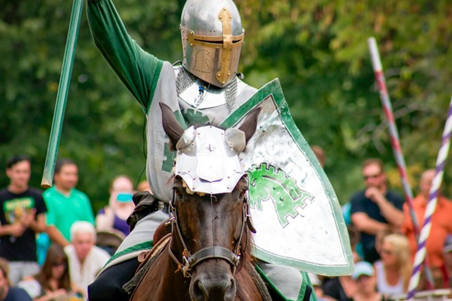 """""""Red knight's going down, down, down, down."""" - PHOTO PROVIDED BY RENAISSANCE FESTIVAL, BY MATTHEW SIKORSKI"""